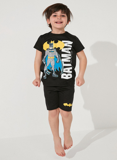 Penti Siyah Erkek Çocuk Lic Batman Dad 2Li Pijama Takımı Siyah